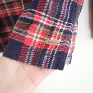 Roots Tops - Roots Plaid Button Down Flannel Shirt